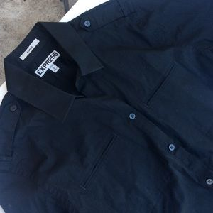 Great condition express black dressy shirt